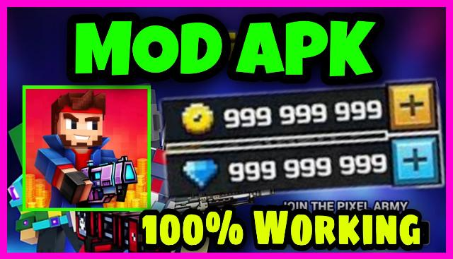 Pixel Gun 3D MOD APK Unlimited Coins and Gems 2021
